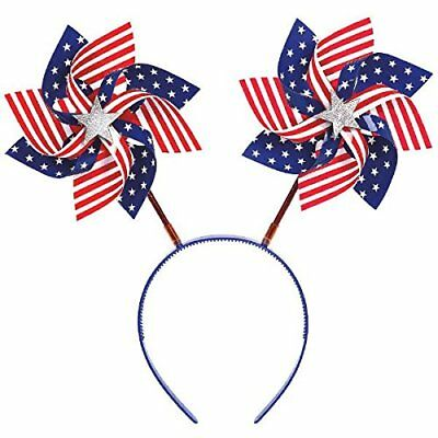 American Summer Fourth of July Pinwheels Head Bopper Accessory 351405