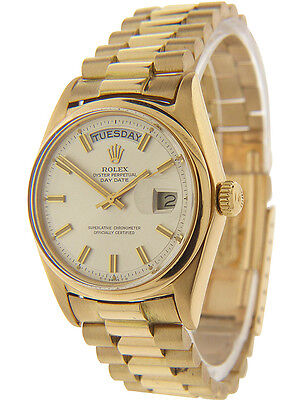 Rolex Day-Date Vintage President 18K Yellow Gold 1803 Mens 36mm