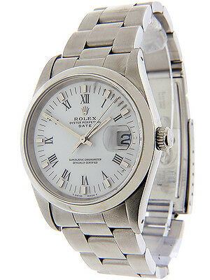 Rolex Date  Stainless Steel Quick-Set Sapphire 15200 34mm