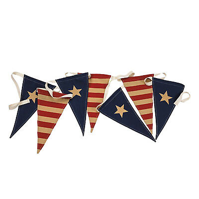 Patriotic Holiday Party American Flags Pennant Banner Fourth Of July Decorations