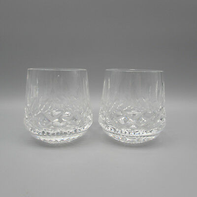 SET OF TWO - Waterford Crystal LISMORE Roly Poly Whiskey Glasses