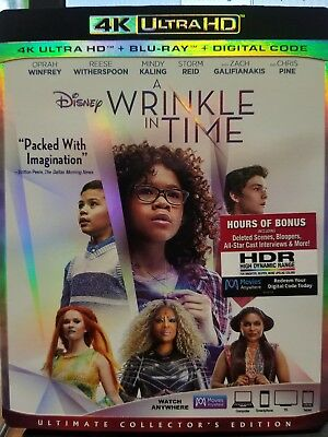 DISNEY A WRINKLE IN TIME 4K ULTRA HD and BLU-RAY Combo