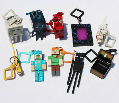 Minecraft Series 2 Hangers Keyring Keychain Toy 10 PCS Figures - FREE SHIPPING