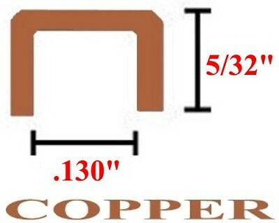 532 U Copper Came Channel - 12 feet-LOW SHIPPING - Works Great with Lil Notcher