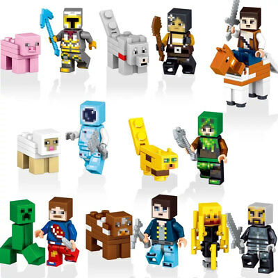 8pcslot New Minecraft My World Characters Legoed Compatible Building Blocks