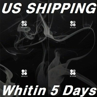 US SHIPPING BTS-Wings2nd Album Random CD-96p PhotoBook-1p PhotoCard-Store Gift
