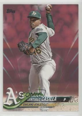 2018 Topps Mothers Day Pink 509 Santiago Casilla Oakland Athletics Card