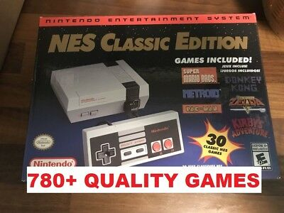 Authentic Nintendo NES Classic Mini Edition 780- Games - Game List Shown Modded