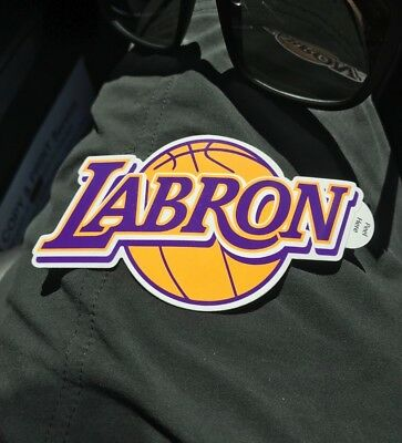 LAbron Sticker Los Angeles Lakers new high quality 4 inch NBA limited edition