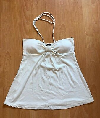 NWT Wet Seal White Halter Top - Size M