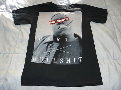 NOTORIOUS BIG Party - Bullshit Sz Small T-Shirt HIP-HOP Biggie Smalls BLUNTWEED
