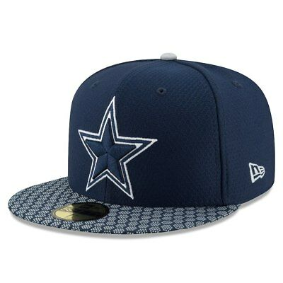 Dallas Cowboys New Era Navy Sideline Official 59FIFTY Fitted Hat