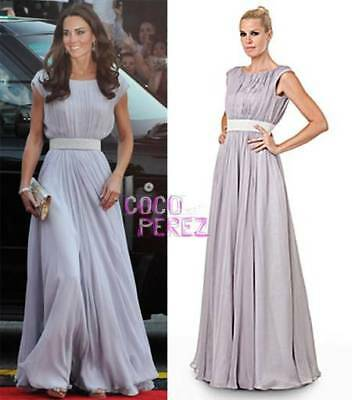 Sz 8 JS COLLECTIONS maxi evening Kate Middleton dress Ball Gown Embellished