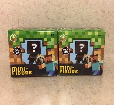 2 X New In Box Minecraft Minifigures Blind Box Series 1 Grass