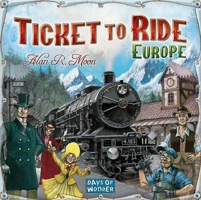 Ticket To Ride Europe - Days of Wonder Strategy Board Game- FREE SHIPPING
