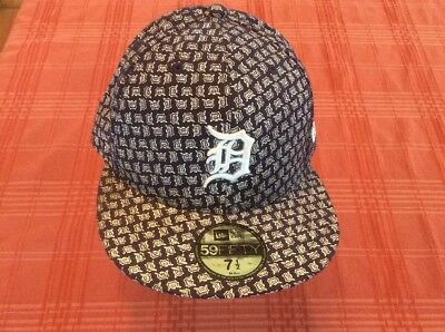 NEW Detroit Tigers 59Fifty Baseball Team Logo Fitted Hat Cap Size 7 12 New Era