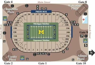 Michigan Wolverines -Two 2 2018 Football Season Tickets -Aisle Seats-ALL GAMES