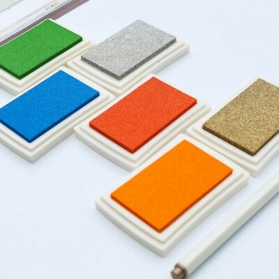 USA Large Rubber Stamps Craft Pigment Ink Pad For Paper Wood Fabric Crafts Hot