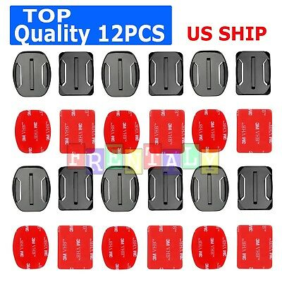 12X Helmet Front Mount Buckle - Stickers For Gopro Hero 65432 3-Plus session