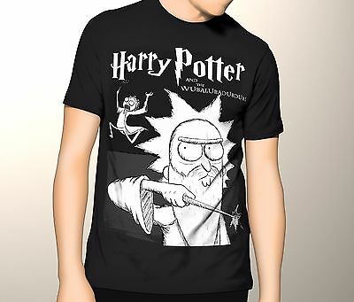 Rick and Morty Shirt Harry Potter Mashup S-5XL Graphic T-Shirt