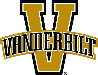 Vanderbilt Commodores 4 Inch NCAA Color Die-Cut Decal  Sticker Free Shipping
