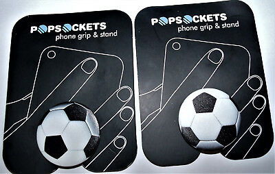 PopSockets Single Phone Grip Universal Phone Holder Soccer Ball 2 included