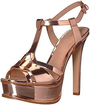 ALDO Womens Chelly Heeled Sandal - Size 8-5 Rose Gold- Brand New In Box