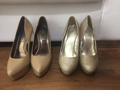 Steve Madden Nude Patent Leather Pumps Size 9
