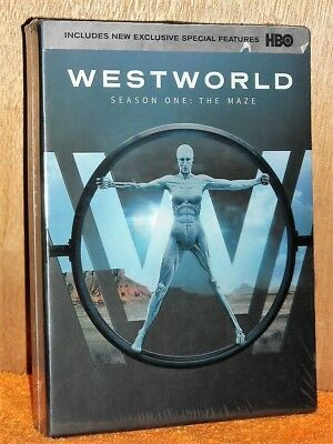 Westworld Season 1 DVD 2017 4-Disc Set NEW Anthony Hopkins Evan Rachel Wood