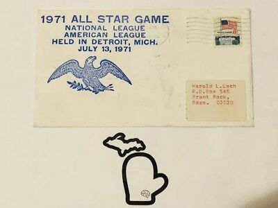 1971 All-Star Baseball Game First Day Cover Detroit Tigers Reggie Jackson Big HR