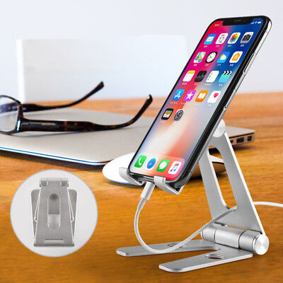Aluminium Tablet Desk Holder Adjustable Stand Mount For iPhone iPad Cell Phone