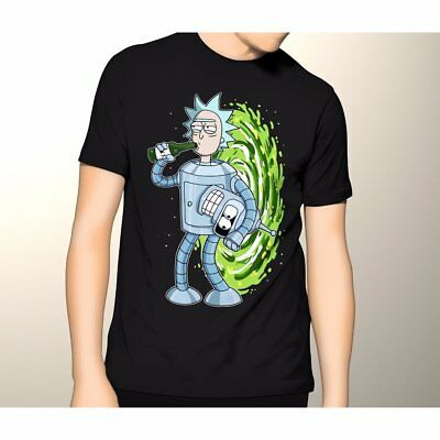 Rick And Morty Futurama Combo Rick Sanchez Bender New Cotton T-shirt S-5XL