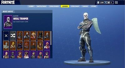Fortnite EXTREME Rare Account  GalaxySkull TrooperRoyalBomber