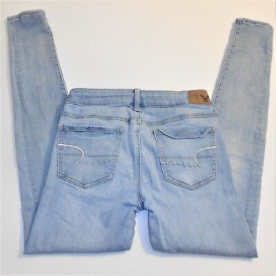 American Eagle Outfitters Jegging Jeans Size 4 LONG Light Wash Skinny Stretch