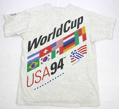 Vintage World Cup 1994 USA Soccer Gray T-Shirt Size XL