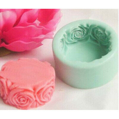 Large Round Rose Flowers Silicone Soap Mold Candle Mould Candy Cake Chocolate