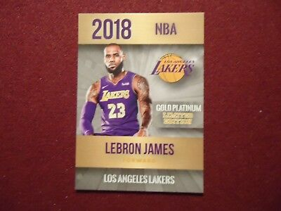 Lebron James 2018 Lakers Gold Platinum Phenom Limited Edition Only 2000 Made