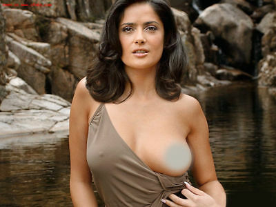 Salma Hayek Showing a Breast In The River 8x10 Quality Photo Print