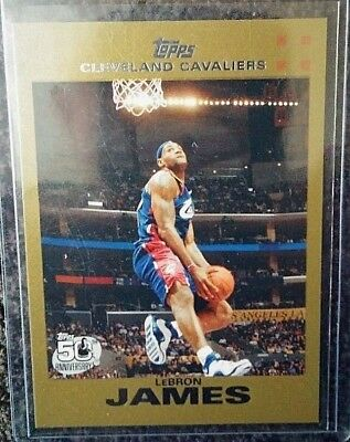 LEBRON JAMES TOPPS 2007 GOLD 11492007 LAKERS CAVALIERS