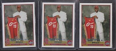 3 2003 TOPPS 221 LEBRON JAMES ROOKIE RC - LOS ANGELES LAKERS