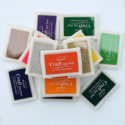 15 Colors Large Rubber Stamps Craft Ink Pad Pigment For Paper Wood Fabric Crafts