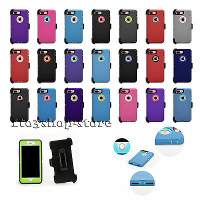 iPhone 7 Plus - iPhone 8 Plus 5-5 Defender Hard Shell Case wHolster Belt Clip