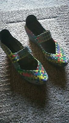 Steve Madden Ladies Shoes - BRICE  Bright Multi - SIZE 8