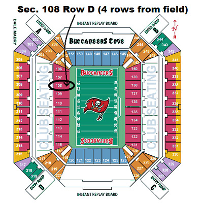 2 of 4 section 108 Row D Tix Tampa Buccaneers vs San Francisco 49ers 112518