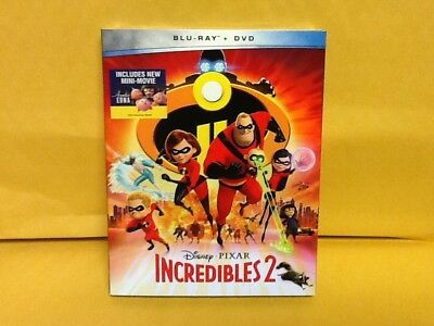Incredibles 2 2018 Blu Ray - DVD Disney Pixar W Slipcover