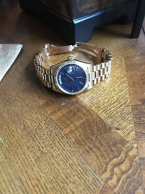 Rolex Presidential Day-Date Blue Dial 18k Gold 18038
