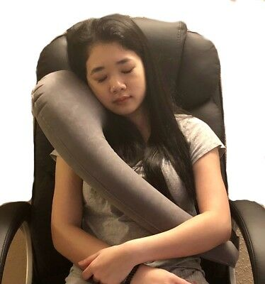 Inflatable Travel Pillow for Airplanes Cars Bus