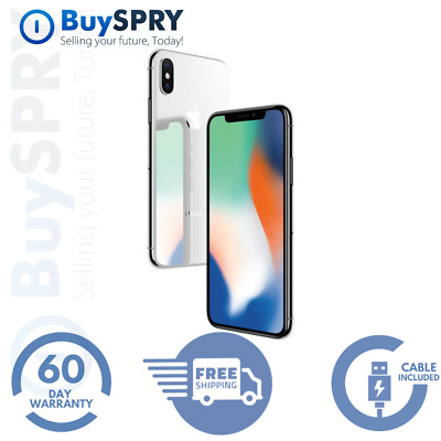 Apple iPhone X - 256GB Silver - Factory GSM Unlocked AT-T  T-Mobile Smartphone