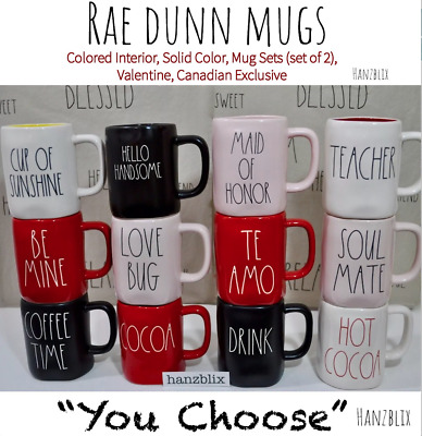 RAE DUNN YOU CHOOSE MUGS Colored Inside Sets Halloween CanadaName Mug 19