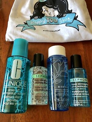 4pc Ipsy makeup lot Eye Makeup Remover Sephora Clinique Miceller Water NEW
